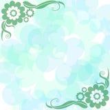 Priorità bassa delicatamente blu con i fiori illustrazione vettoriale