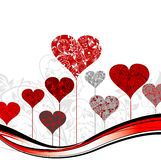 Priorità bassa dell'albero dei biglietti di S. Valentino,   illustrazione vettoriale