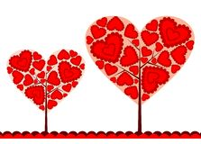 Priorità bassa dell'albero dei biglietti di S. Valentino, vettore Immagini Stock Libere da Diritti