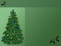 Priorità bassa dell'albero di Natale Fotografie Stock