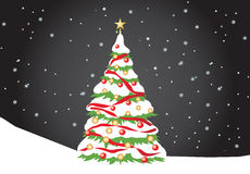 Priorità bassa dell'albero di Natale Fotografia Stock Libera da Diritti