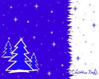 Priorità bassa dell'albero di Natale Immagini Stock Libere da Diritti
