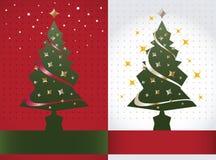 Priorità bassa dell'albero di Natale, vettore Immagini Stock