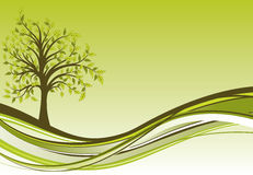 Priorità bassa dell'albero, vettore Fotografia Stock