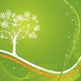 Priorità bassa dell'albero, vettore Immagini Stock Libere da Diritti