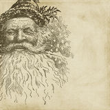Priorità bassa dell'album di natale della Santa di stile dell'annata Fotografia Stock Libera da Diritti