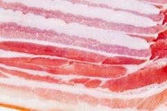 Priorità bassa dell'alimento della pancetta affumicata della carne Fotografie Stock Libere da Diritti