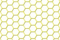 Priorità bassa dell'alveare dell'ape - più piccole celle Immagini Stock Libere da Diritti