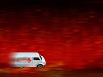 Priorità bassa dell'ambulanza Fotografia Stock Libera da Diritti