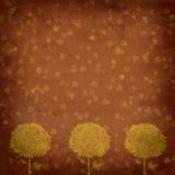 Priorità bassa dell'annata - astrazione degli alberi illustrazione di stock