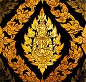 Priorità bassa dell'annata con arte tailandese Immagine Stock