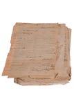 Priorità bassa dell'annata con i vecchi documenti Immagini Stock Libere da Diritti