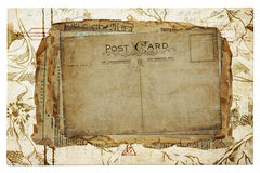 Priorità bassa dell'annata dalle vecchie cartoline Fotografie Stock Libere da Diritti