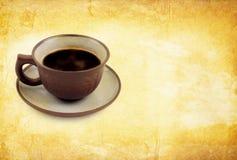 Priorità bassa dell'annata di Cofee Fotografie Stock Libere da Diritti