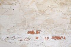 Priorità bassa dell'annata Struttura della superficie della parete dipinta bianco irregolare dello stucco Fotografia Stock