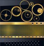 Priorità bassa dell'attrezzo dell'oro Immagini Stock Libere da Diritti