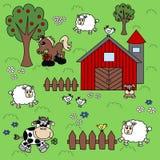 Priorità bassa dell'azienda agricola royalty illustrazione gratis