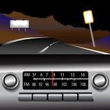 Priorità bassa dell'azionamento della strada principale di FM della radio di Ashboard Fotografia Stock Libera da Diritti