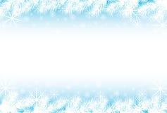 Priorità bassa dell'azzurro dei fiocchi di neve Fotografia Stock