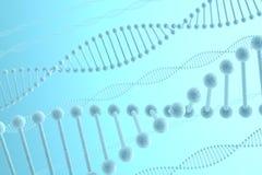 Priorità bassa dell'azzurro del DNA Fotografia Stock