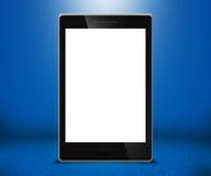 Priorità bassa dell'azzurro dello schermo di tocco del telefono Immagini Stock
