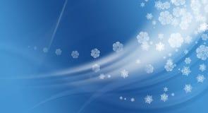 Priorità bassa dell'azzurro dello Snowy Fotografia Stock Libera da Diritti