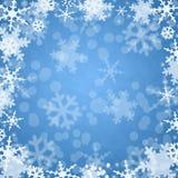 Priorità bassa dell'azzurro di inverno Immagine Stock