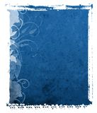 Priorità bassa dell'azzurro di trasferimento del Polaroid Immagine Stock