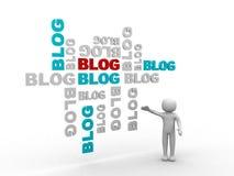 Priorità bassa dell'estratto del blog 3d e dell'uomo Immagine Stock