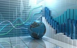 Priorità bassa dell'estratto del mercato azionario Immagine Stock Libera da Diritti