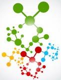 Priorità bassa dell'estratto della molecola del DNA royalty illustrazione gratis