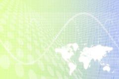 Priorità bassa dell'estratto di affari globali illustrazione di stock
