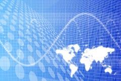 Priorità bassa dell'estratto di affari globali illustrazione vettoriale