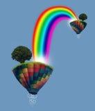Priorità bassa dell'estratto di fantasia del Rainbow Fotografie Stock Libere da Diritti