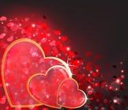 Priorità bassa dell'estratto di giorno dei biglietti di S. Valentino. Fotografie Stock Libere da Diritti