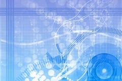 Priorità bassa dell'estratto di scienza di ingegneria meccanica Immagine Stock Libera da Diritti