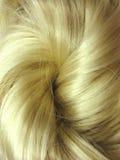 Priorità bassa dell'estratto di struttura dei capelli biondi Immagine Stock Libera da Diritti