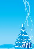 Priorità bassa dell'illustrazione anno nuovo/di natale Immagine Stock