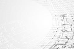 Priorità bassa dell'illustrazione architettonica illustrazione di stock