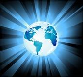 Priorità bassa dell'indicatore luminoso della terra del pianeta Immagini Stock Libere da Diritti