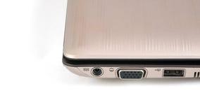 Priorità bassa dell'isolato del computer portatile delle porte Immagini Stock Libere da Diritti