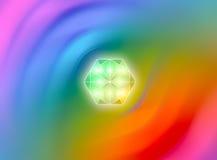 Priorità bassa dell'occhio del diamante Fotografie Stock