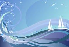 Priorità bassa dell'oceano illustrazione di stock