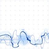 Priorità bassa dell'onda sonora Fotografie Stock