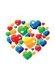 Priorità bassa dell'ornamento del cuore Fotografie Stock