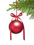 Priorità bassa dell'ornamento dell'albero di Natale Fotografia Stock