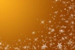 Priorità bassa dell'oro con le stelle. Immagini Stock
