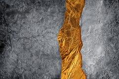 Priorità bassa dell'oro e dell'argento Fotografie Stock Libere da Diritti