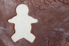 Priorità bassa dell'uomo di pan di zenzero Fotografie Stock Libere da Diritti