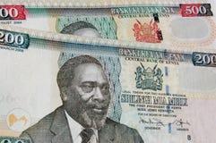 Priorità bassa della banconota del Kenia Immagine Stock Libera da Diritti
